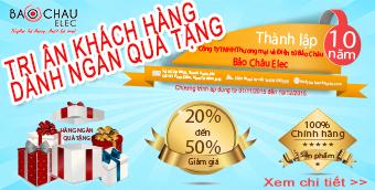 Banner KM 10 năm thành lập Bảo Châu Elec