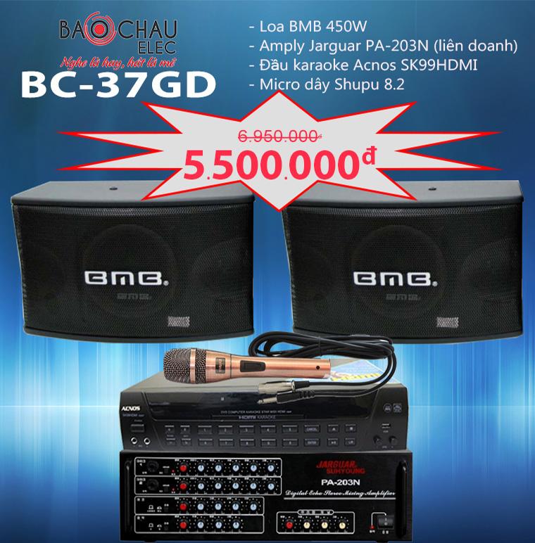 Bộ dàn karaoke BC-37GD