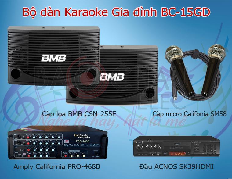 Bộ dàn karaoke gia đình BC-15GD