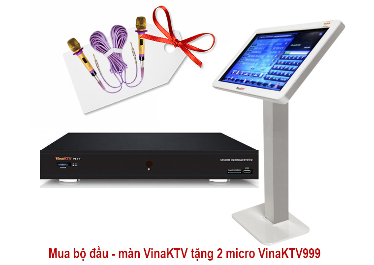Mua bộ đầu màn VinaKTV tặng 2 Micro VinaKTV 999