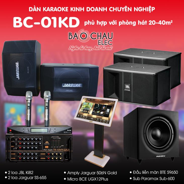 Bộ dàn karaoke kinh doanh BC-01KD