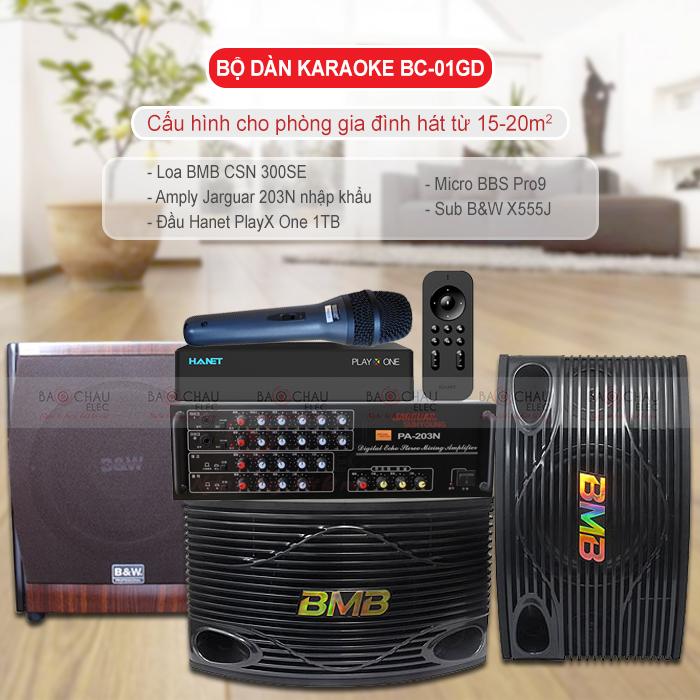 Dàn karaoke gia đình BC-01GD