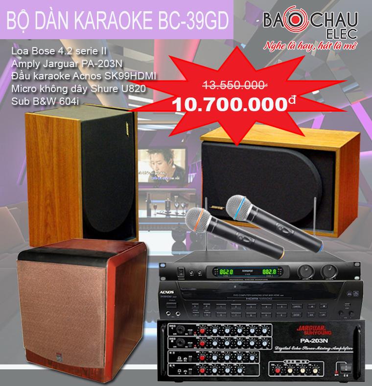 Bộ dàn karaoke gia đình BC-39GD