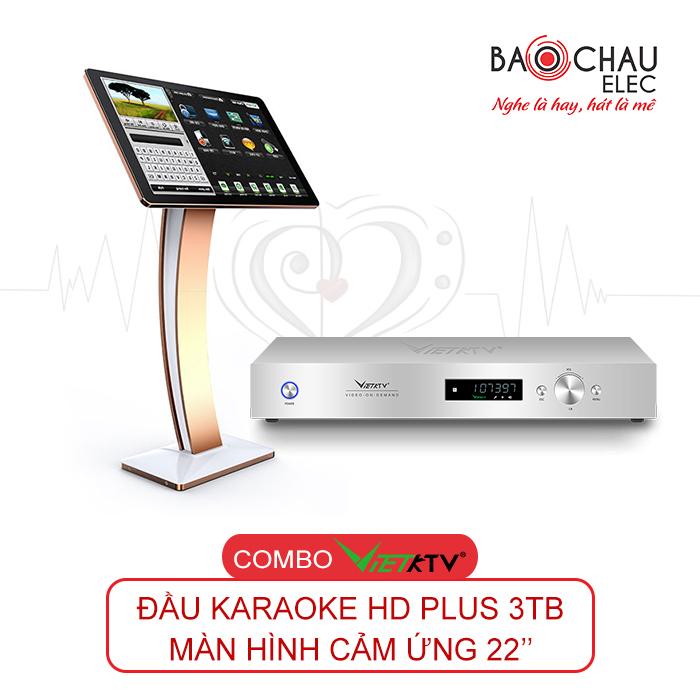 Combo VietKTV HD Plus 3TB + Màn hình 22inch