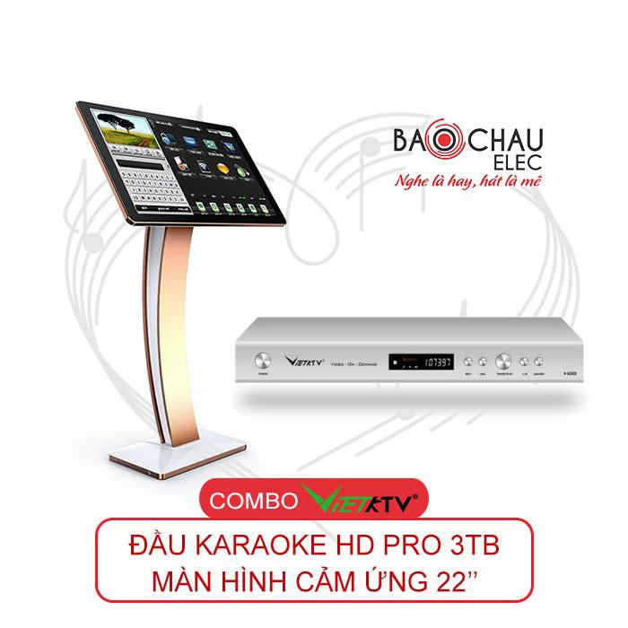 Combo VietKTV HD Pro 3TB + Màn hình 22inch