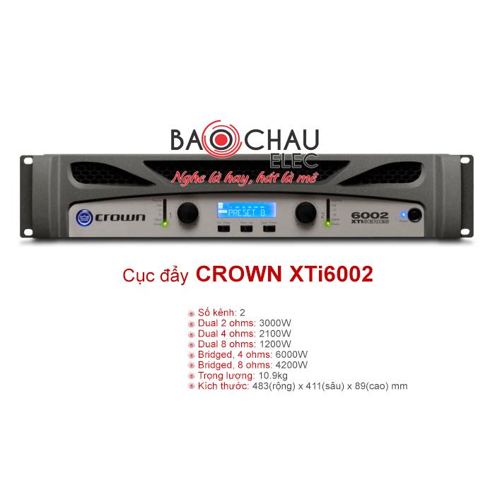 Cục đẩy công suất Crown XTi 6002