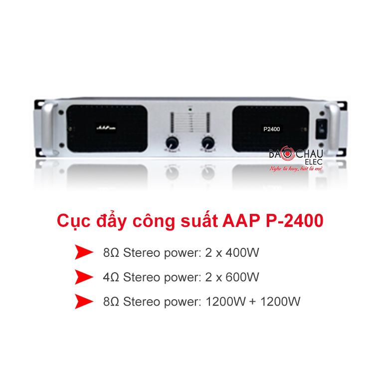 Cục đẩy công suất AAP audio P-2400