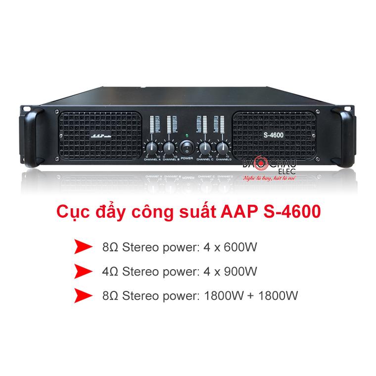 Cục đẩy công suất AAP S-4600