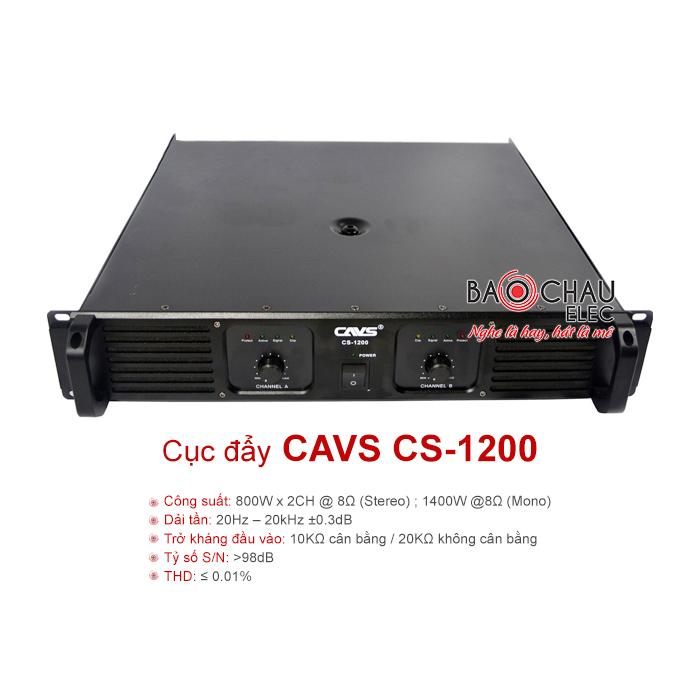 Cục đẩy công suất CAVS CS-1200 chính hãng, giá tốt nhất