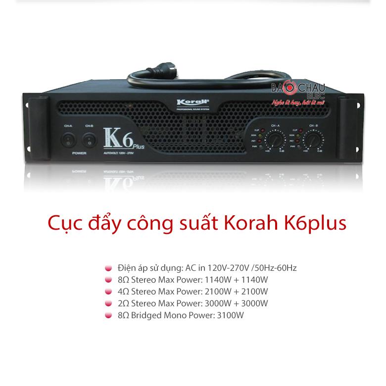 Cục đẩy Korah K6plus