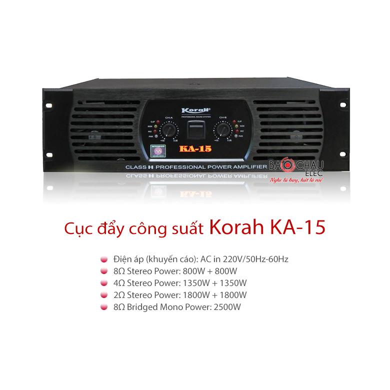 Cục đẩy công suất Korah KA-15