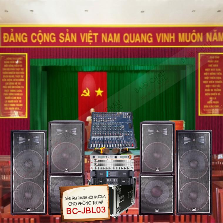 Dàn âm thanh hội trường 150m2 BC-JBL03