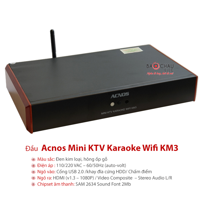 Đầu Acnos Mini KTV karaoke Wifi KM3