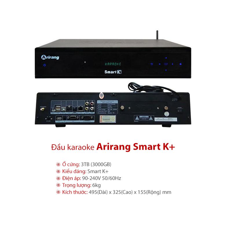 Đầu karaoke Arirang Smart K+