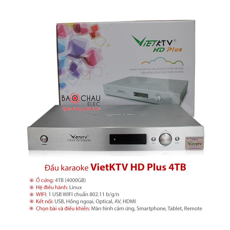 Đầu karaoke VietKTV HD Plus 4TB