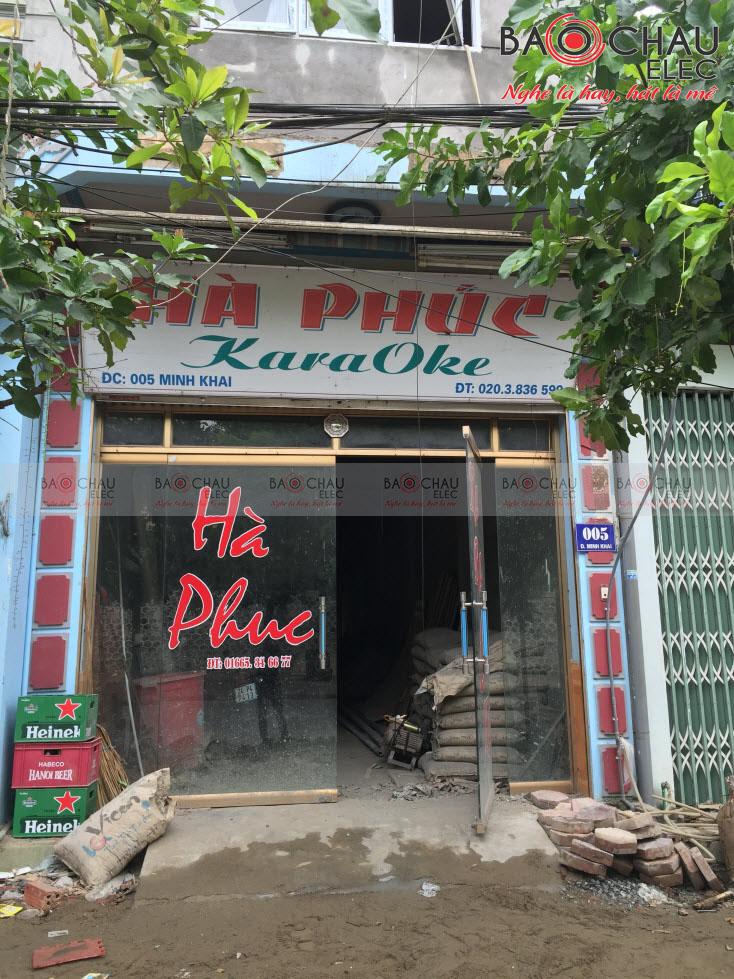 Thi công phòng hát karaoke cao cấp Hà Phúc - TP Lào Cai