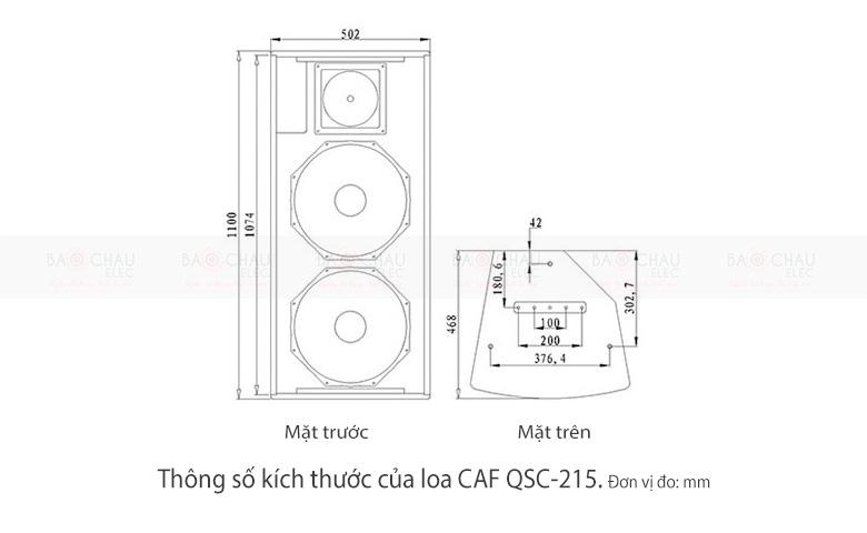 loa-caf-qsc-215-thong-so-kich-thuoc