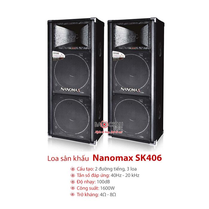 Loa hội trường Nanomax SK406