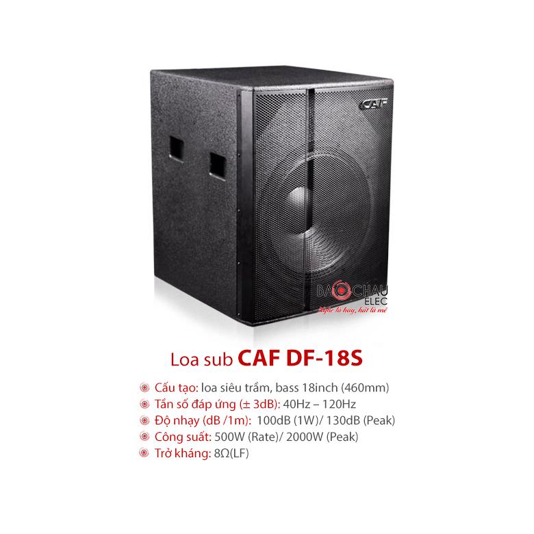 Loa sub CAF DF18S