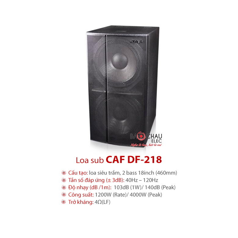 Loa sub kép CAF DF218