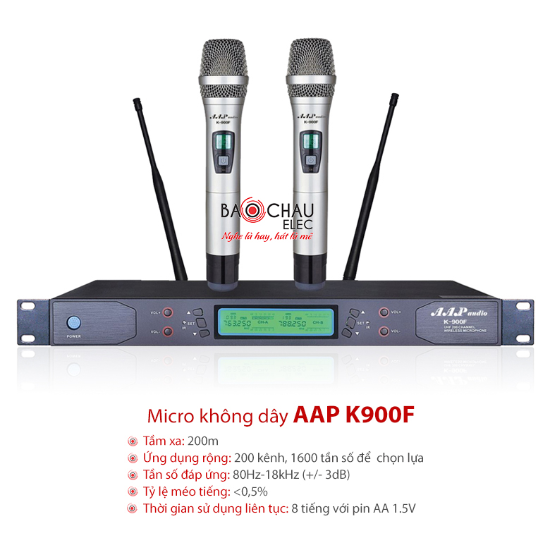 Micro không dây cao cấp AAP K900F chính hãng, giá rẻ nhất