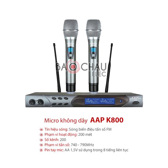 Micro không dây AAP K800