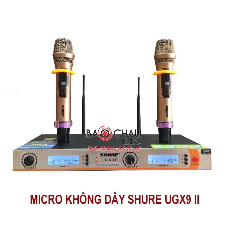 Micro không dây Shure UGX9 II hát karaoke hay, giá rẻ
