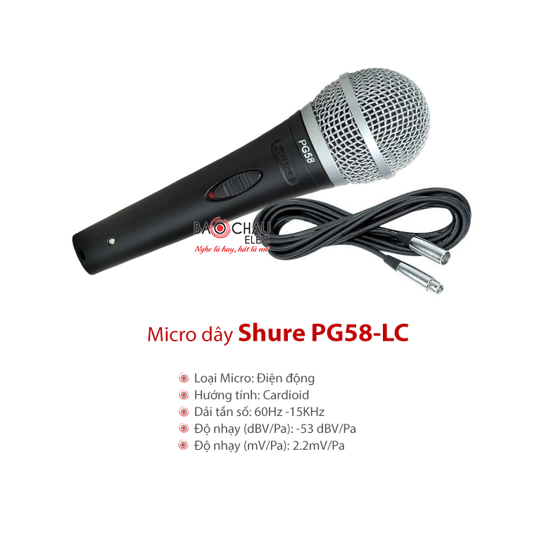 Micro Shure PG58-LC