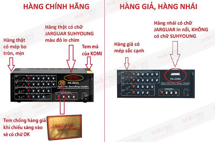 Amply Jarguar 203N Trung Quốc - cẩn thận mua phải hàng nhái