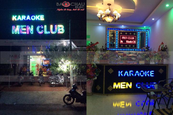 Thi công 4 phòng hát karaoke Men Club tại Lạng Sơn