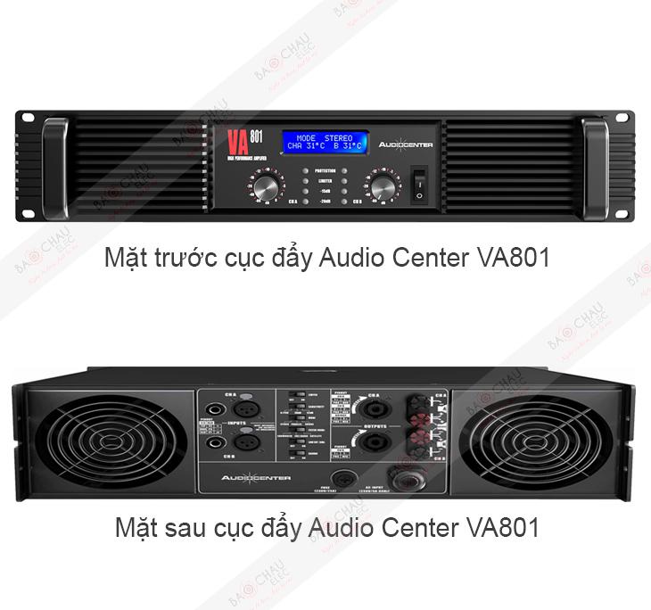 Cục đẩy Audio Center VA801 - 2 mặt sản phẩm