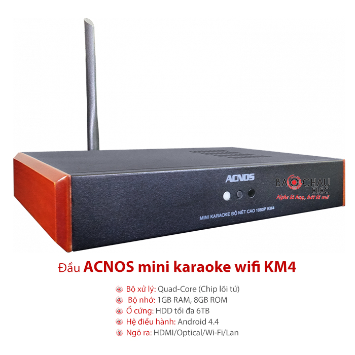 Đầu Acnos Mini Wifi HD KM4 1TB