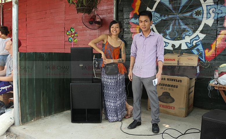 Lắp đặt dàn âm thanh cho bar nhỏ phục vụ du khách