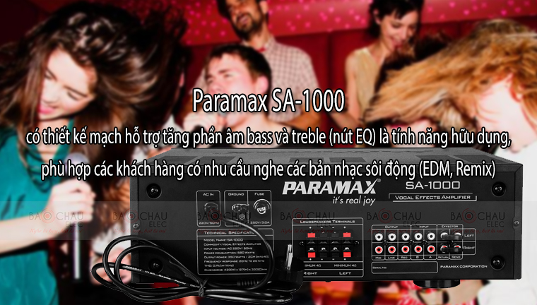 Amply Paramax SA-1000 tính năng 3