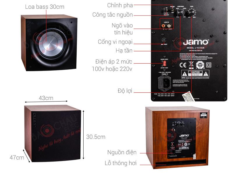 Sub Jamo J112 là dòng sub điện bass 30cm thường dùng trong dàn karaoke