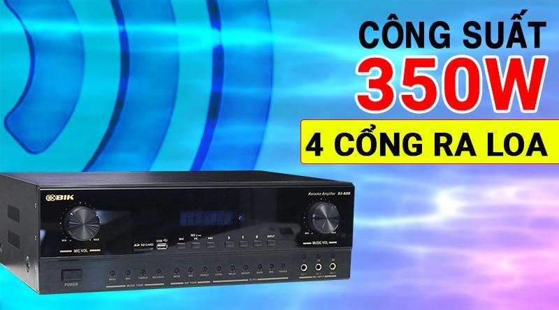 Amply karaoke BIK BJ-A88 công suất mạnh mẽ