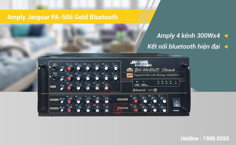 Amply Karaoke Jarguar Suhyoung PA-506 Gold Bluetooth