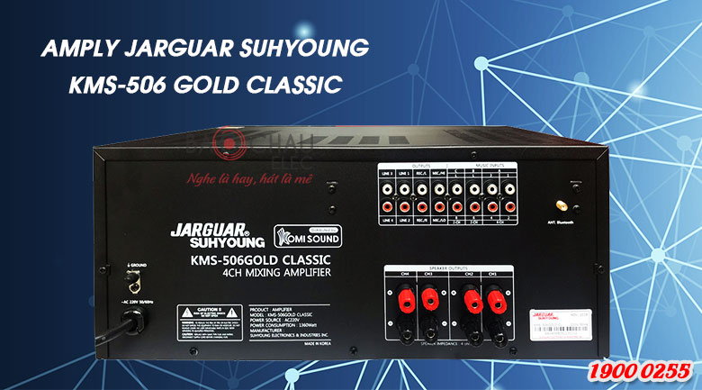 Mặt sau Amply Jarguar Suhyoung KMS506 Gold Classic