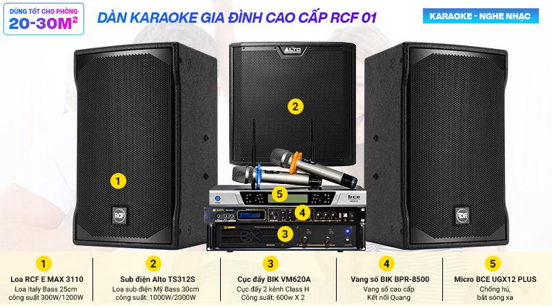 Dàn karaoke gia đình RCF-01