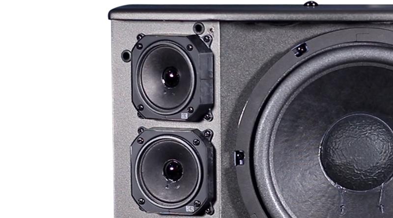 2 cặp mid và treble tạo nên hiệu ứng âm thanh vòm sống động