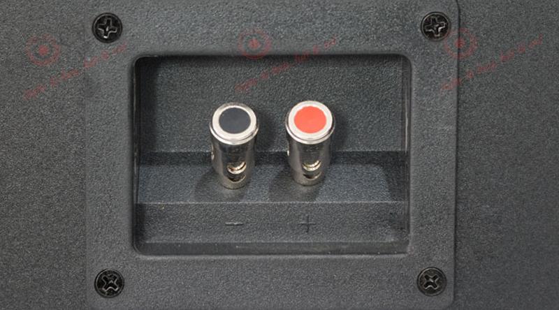 2 cổng kết nối được đặt ở mặt sau loa karaoke Jarguar KM880 Pro