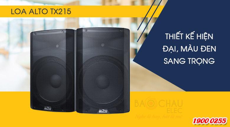 Loa Alto TX215 sở hữu thiết kế hiện đại, vóc dáng nhỏ gọn