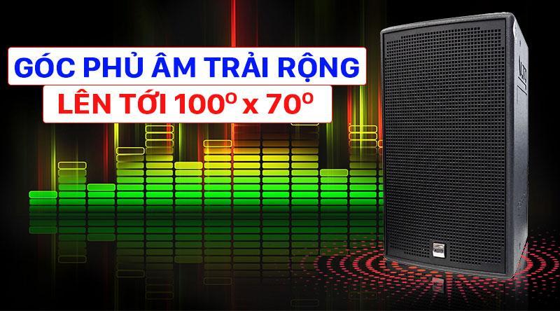 Góc phủ âm của loa Alto AT1000 rộng cho âm thanh tỏa rộng