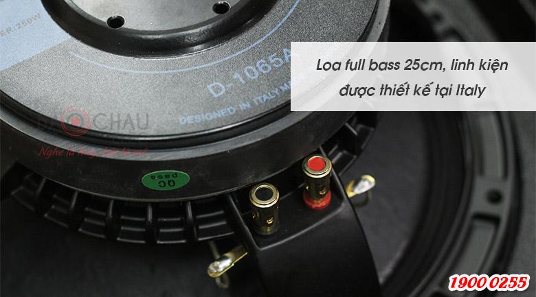 Loa karaoke Alto AT1000 sử dụng củ bass 25cm