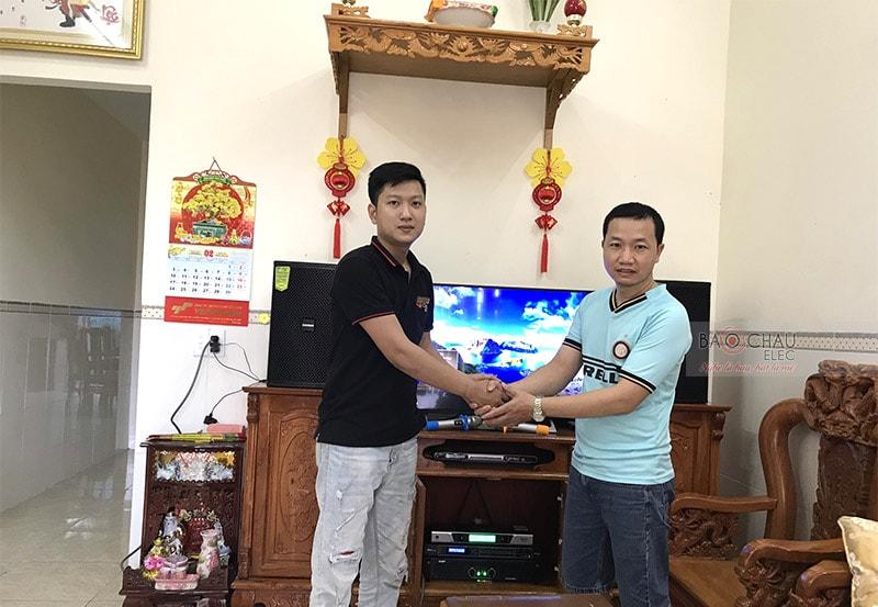 Anh Quang rất hài lòng về chất lượng bộ dàn cũng như sự nhiệt tình, chuyên nghiệp của đội ngũ kỹ thuật viên Bảo Châu Elec