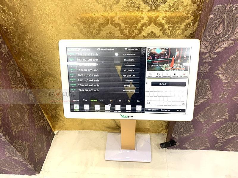 Màn hình VietKTV 22inch thiết kế cảm ứng điện dung mang lại trải nghiệm cảm ứng mượt mà như những dòng Smartphone hiện đại