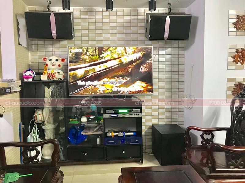 Hình ảnh trọn bộ dàn karaoke JBL sau khi được Bảo Châu Elec Đà Nẵng lắp đặt