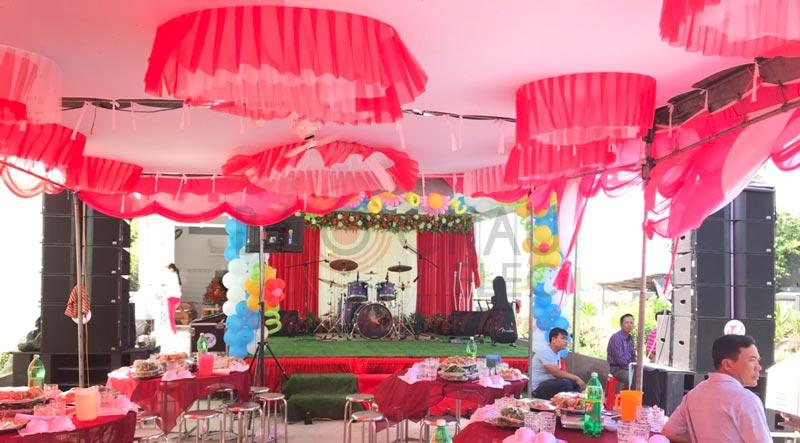 dàn âm thanh line array sự kiện, đám cưới ngoài trời tại Kiên Giang