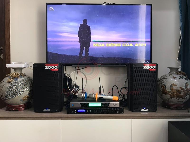 Khách hàng tại Hà Nội lựa chọn loa Alto TS308 cho dàn karaoke của mình
