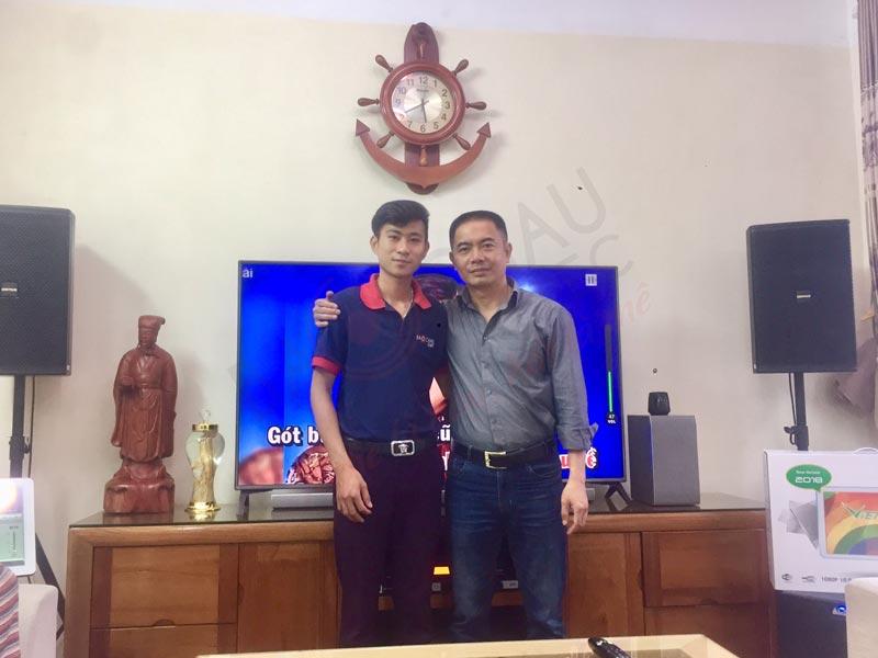 Dàn karaoke gia đình chuyên nghiệptrị giá hơn 60triệu cho anh Nhất tại Phúc Lợi, Long Biên, TP Hà Nội